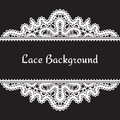 White lace background vintage realistic on black Stock Photos