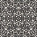 White lace black seamless pattern Royalty Free Stock Images