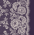 White Lace. Floral Seamless Pattern. Royalty Free Stock Photo