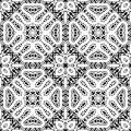 White lace pattern on black background seamless Stock Images