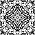 White lace pattern texture on black seamless Stock Images