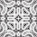 White lace pattern texture seamless vintage lacy ornament Royalty Free Stock Images