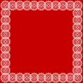White lace red background Stock Image