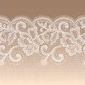 White Lace Seamless Pattern.