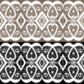 White lace seamless pattern textile background Royalty Free Stock Photo