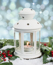 White lantern with magical background
