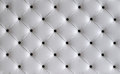 White leather button headboard background Royalty Free Stock Photo