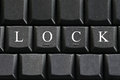 The white letter of Lock on computer keyboard background. Royalty Free Stock Photo