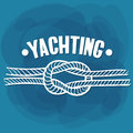 White Lettering Yachting Knot