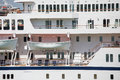 White lifeboats on cruise ship classic a luxury Stock Photos