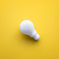 White lightbulb on color background.Ideas creativity Royalty Free Stock Photo