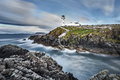 White Lighthouse, Fanad Head, County Donegal, North Ireland Royalty Free Stock Photo