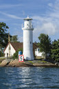 White lighthouse Karlskrona Royalty Free Stock Photo