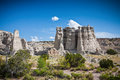 White limestone spears  in New Mexico Stock Images