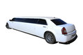 White limousine isolated Royalty Free Stock Photo