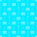 White line beakers chemistry seamless pattern Royalty Free Stock Photo