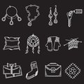 White line icons for handmade items