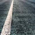 White Line on a Road Royalty Free Stock Photo