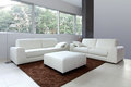 White living room new Stock Photography
