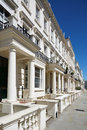 White luxury houses facades in London Royalty Free Stock Photo
