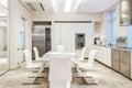 White luxury kitchen Royalty Free Stock Photo