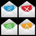 White Mail Envelopes Royalty Free Stock Photos