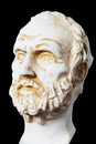 White marble bust of the greek philosopher Democritus Royalty Free Stock Photo