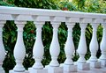 White marble columns in a row, parapet Royalty Free Stock Photo