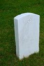 White Marble Military Style Headstone or Gravestone Royalty Free Stock Photo