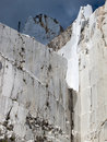 White marble quarry in marina di carrara Stock Image
