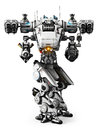 White mech weapon with full array of guns pointed on a background Royalty Free Stock Image