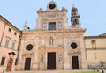 White medieval church of Parma Royalty Free Stock Photo