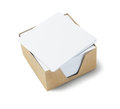 White memo papers box of on background Stock Image