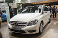 White mercedes benz b class car new in the th zhengzhou dahe spring international auto show take from zhengzhou henan china Royalty Free Stock Photos