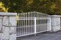 White Metal Gate Royalty Free Stock Photo