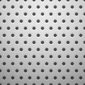 White metal texture with holes vector background illustration Stock Photography
