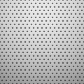 White metal texture with holes vector background illustration Stock Image