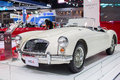 White mga car at the th thailand international motor expo on december in bangkok thailand Stock Images