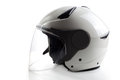 White modern quad atv helmet glossy isolated on background Stock Image