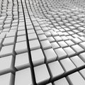 White mosaic surface with convex effect Stock Photos