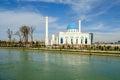 White mosque minor in tashkent uzbekistan Royalty Free Stock Photography