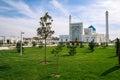 White mosque minor in tashkent uzbekistan Royalty Free Stock Photos