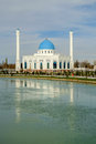 White mosque minor in tashkent uzbekistan Royalty Free Stock Images