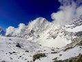 White mountains, trek to Everest Base Camp Royalty Free Stock Photo