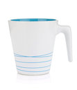 White mug, blue inside Stock Image