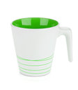 White mug, green inside Royalty Free Stock Photo