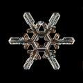 White natural snowflake macro piece of ice Royalty Free Stock Photo