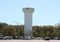White navy communications tower in millington tennessee Stock Photos