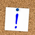 White note with question mark pinned to cork board Royalty Free Stock Photo