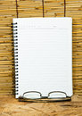 White notebook paper. Royalty Free Stock Photography